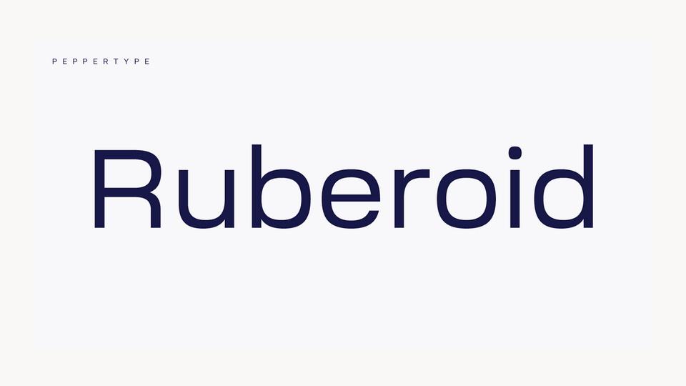 ruberoid typeface