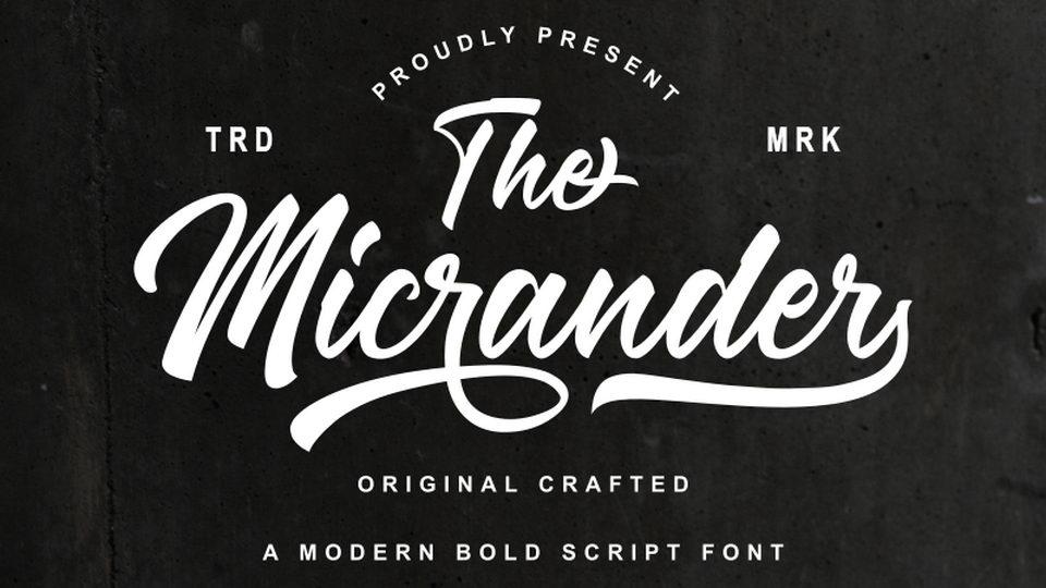 the micrander script