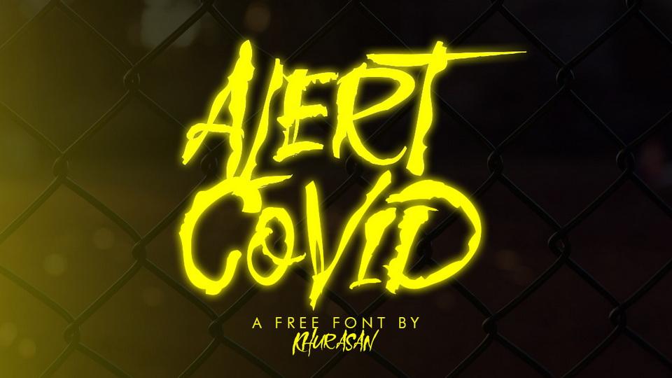 alert covid font