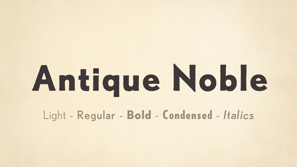 antique noble font