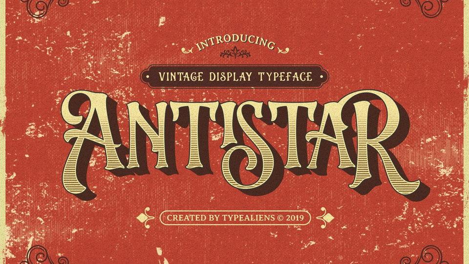 antistar typeface