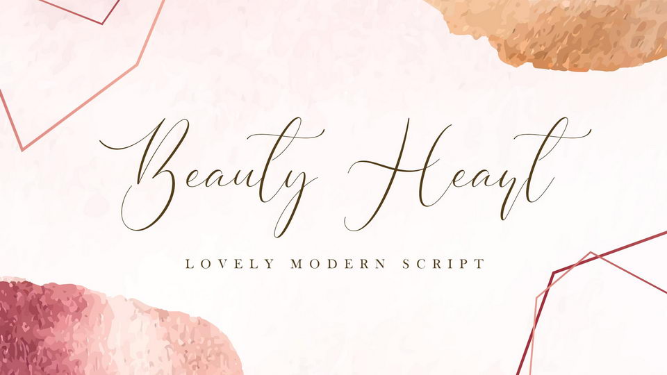 beauty heart font