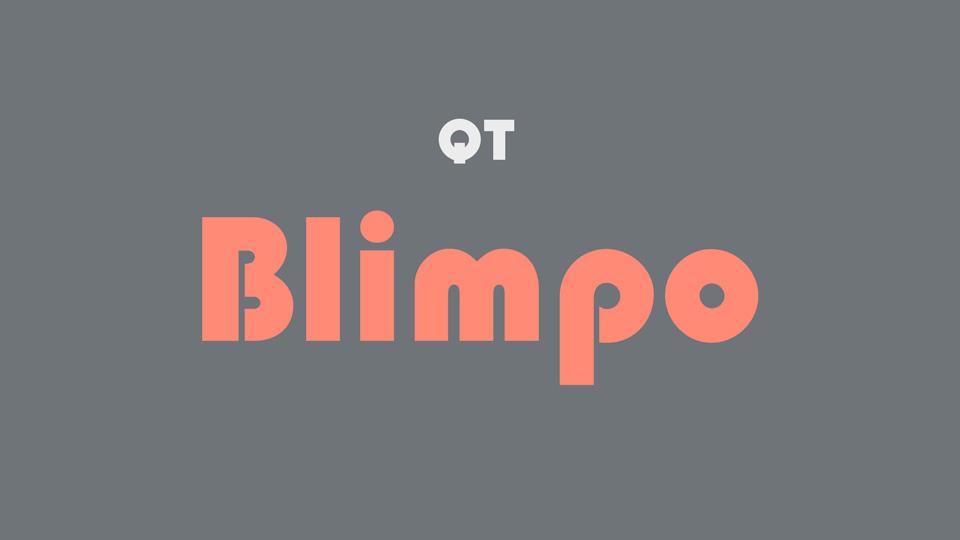 blimpo font