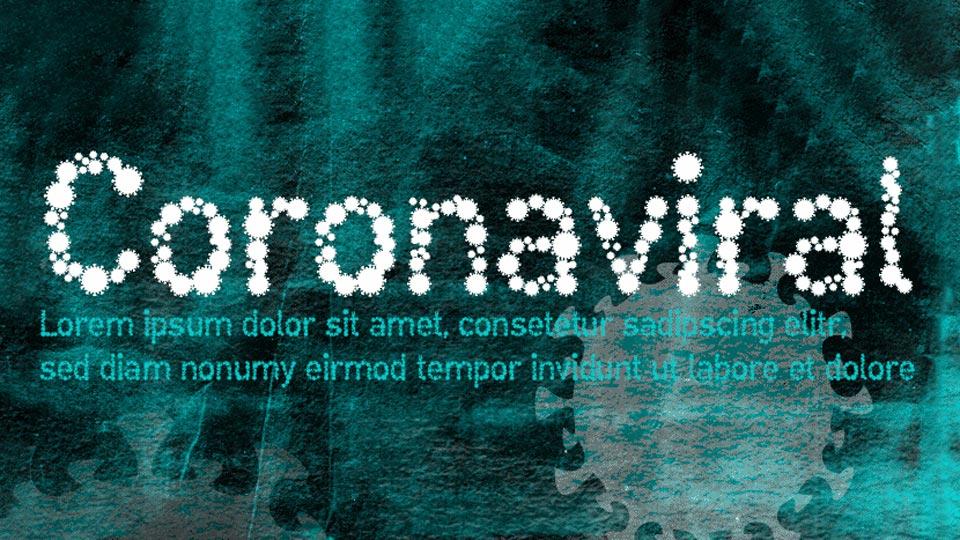 coronaviral font