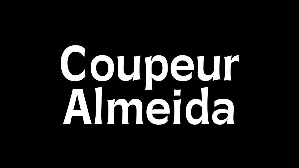 coupeur almeida typeface