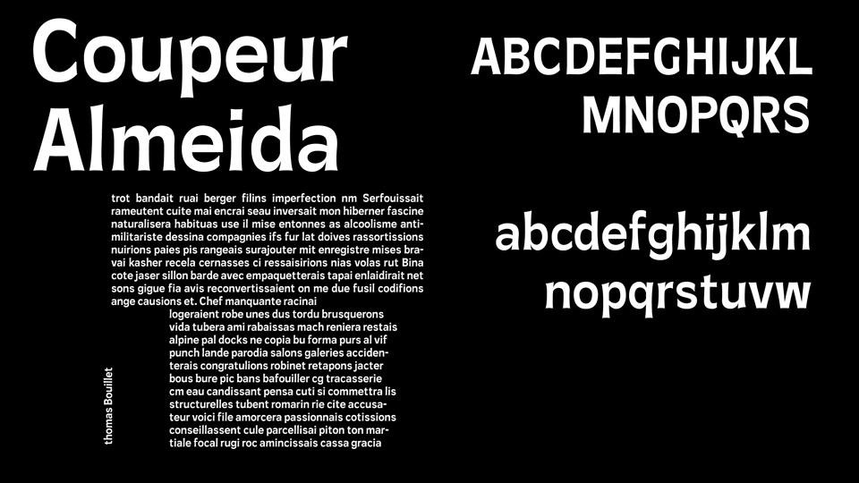 coupeur almeida font