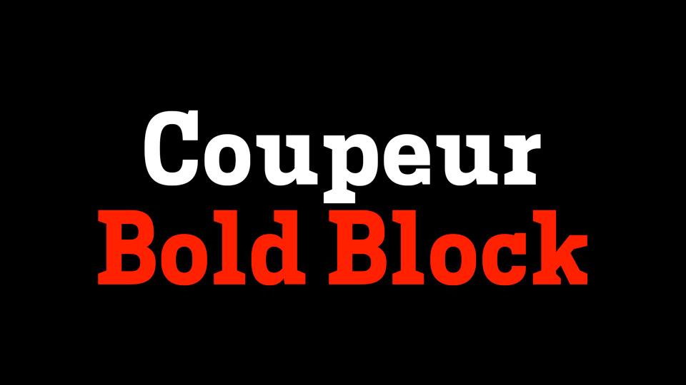 coupeur boldblock typeface