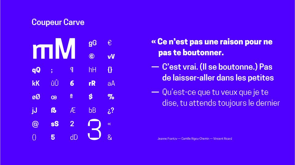 coupeur carve typeface