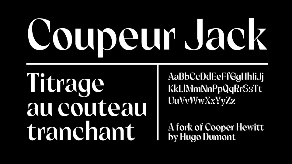 coupeur jack font
