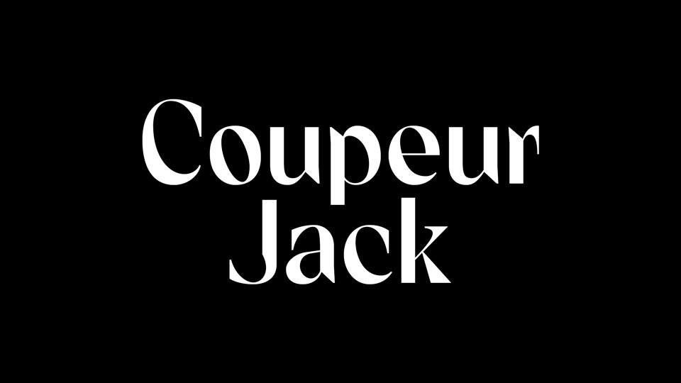 coupeur jack typeface