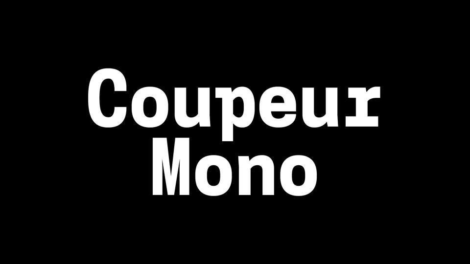 coupeur mono font