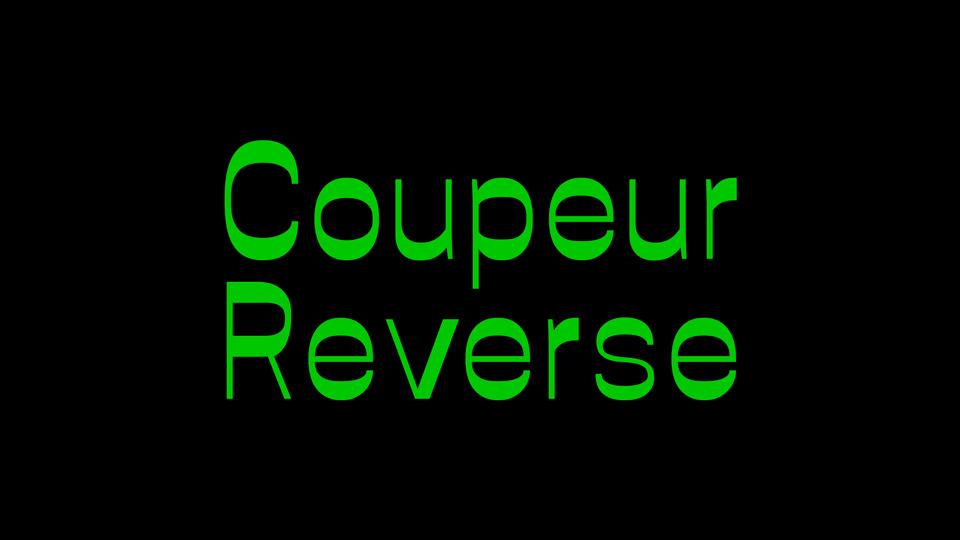 coupeur reverse font