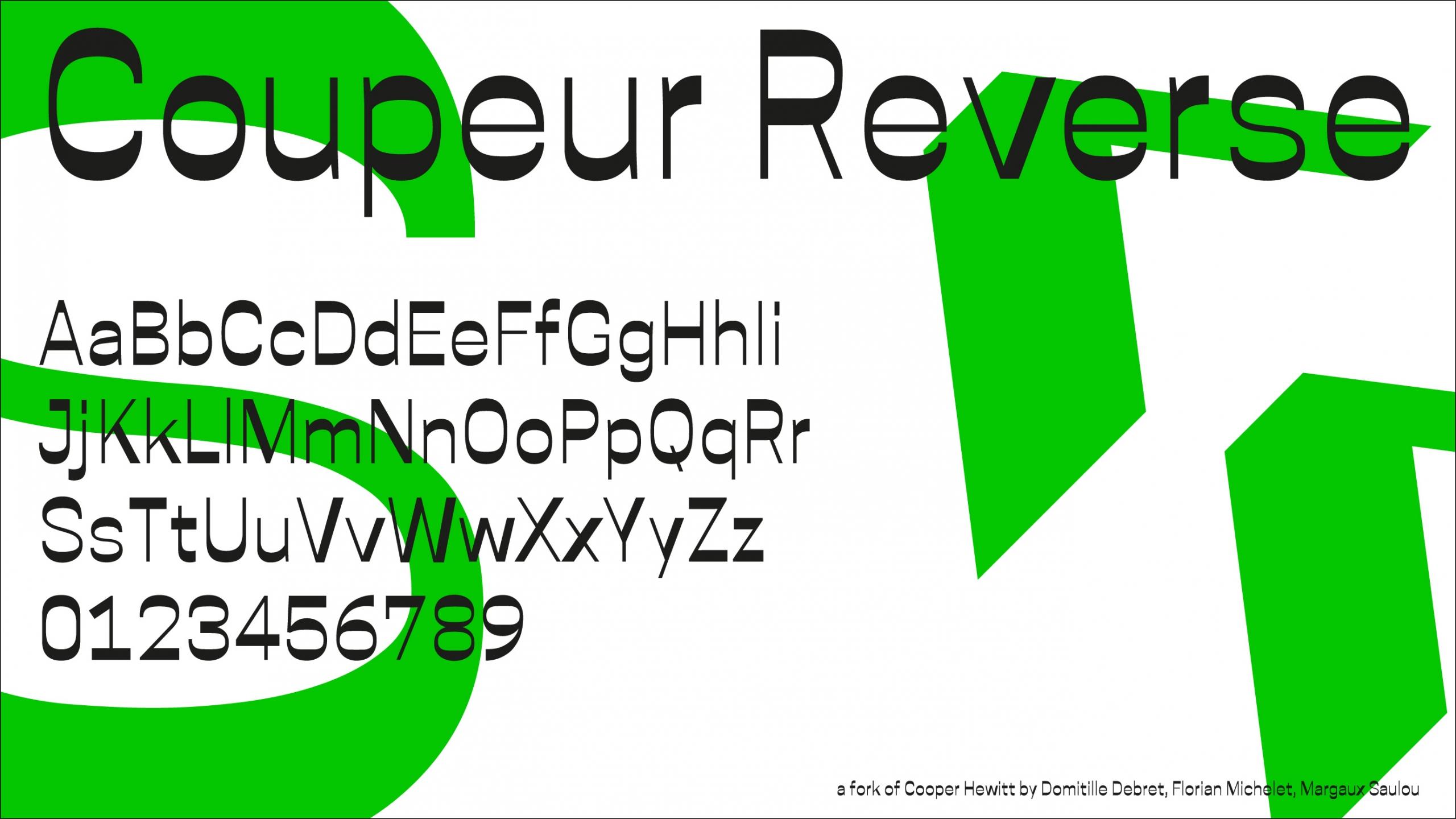 coupeur reverse typeface