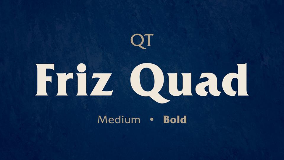 Friz Quad font