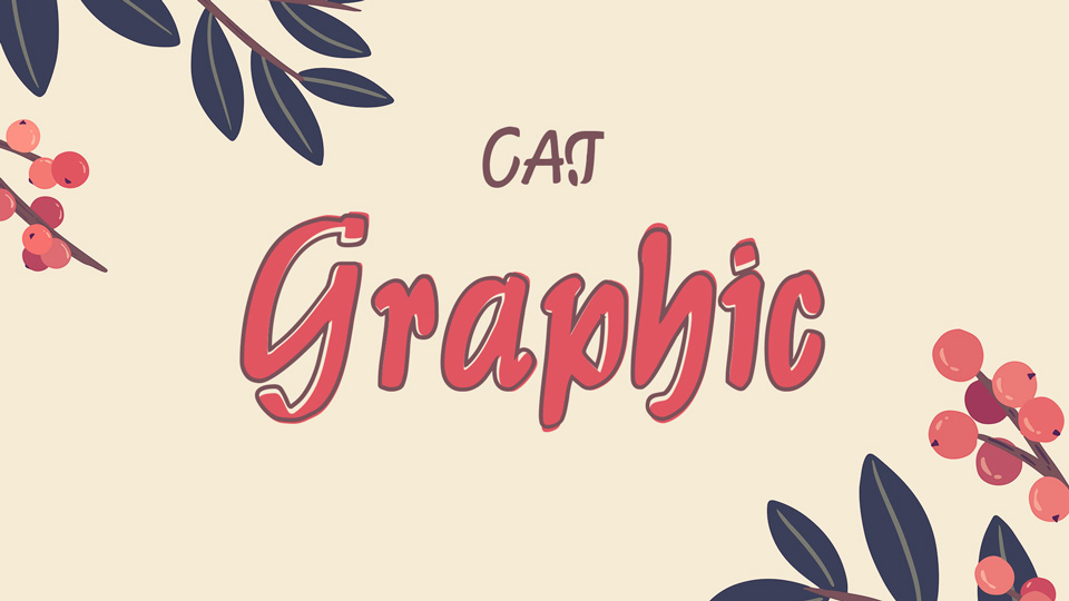 graphic cat font