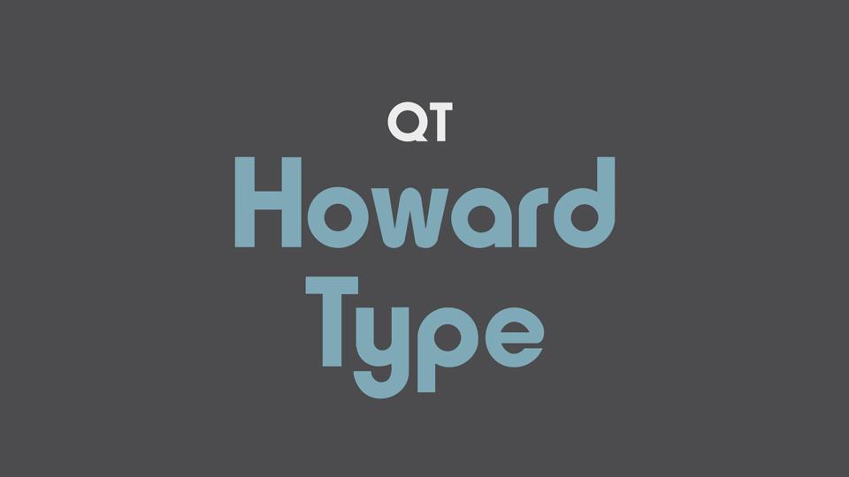 howard type font
