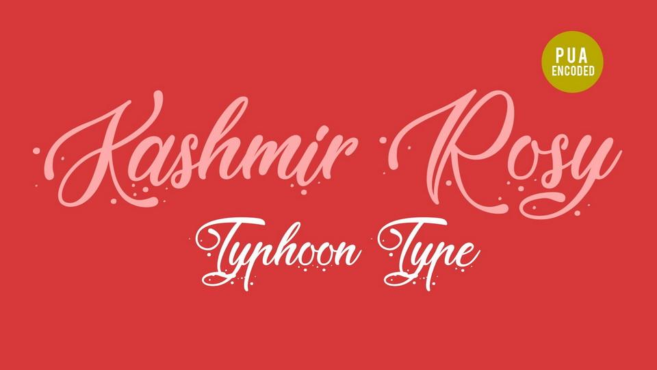 kashmir rosy font