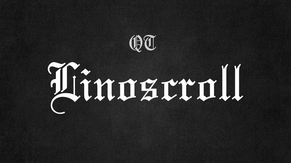 linoscroll font