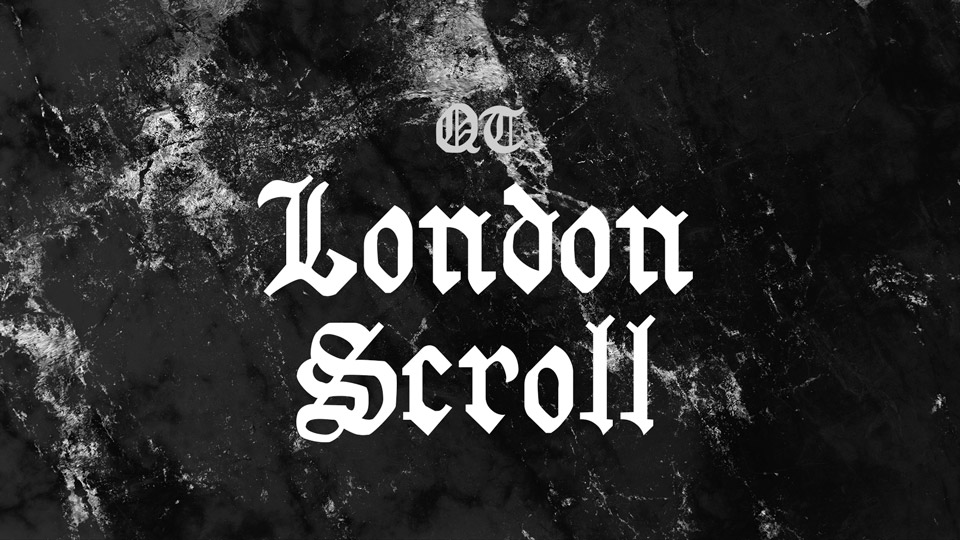 london scroll font