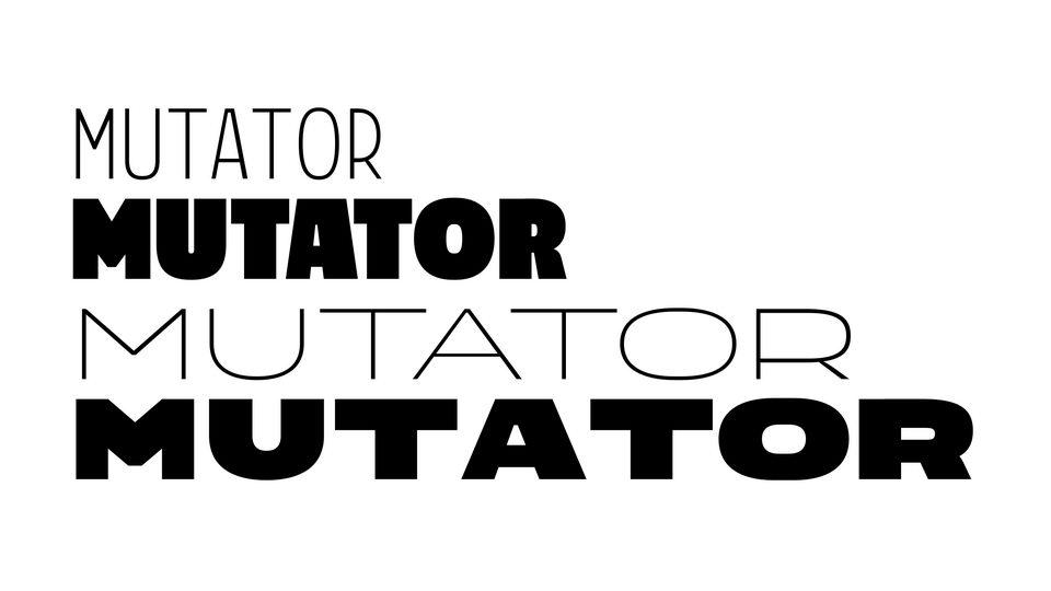 mutator sans typeface