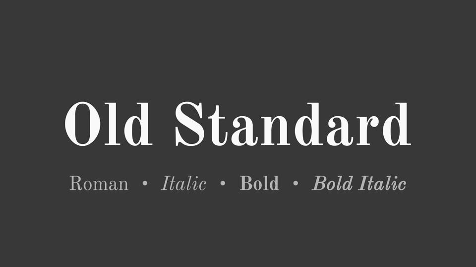 old standard font