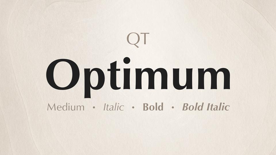 optimum font