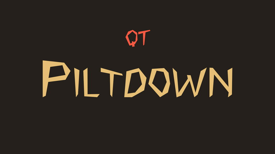 piltdown font