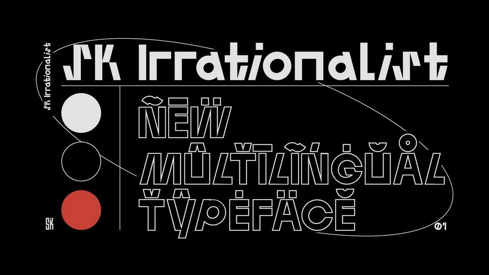 sk irrationalist font