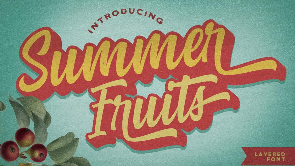 summer fruits font