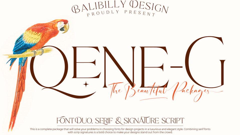 Qene-G Fonts