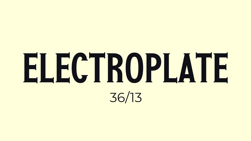 electroplate